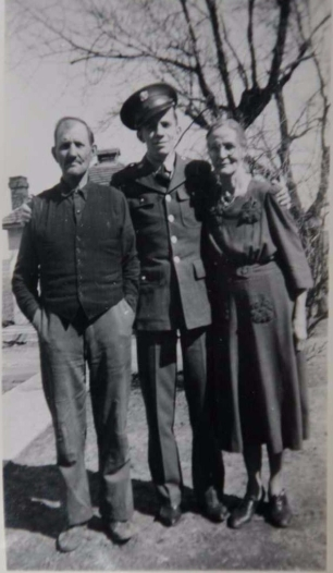 Walter Erickson with parents, Frank and Ellen