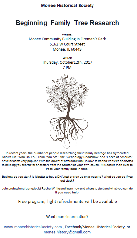 10-12-17 Beginning Family Tree Flyer