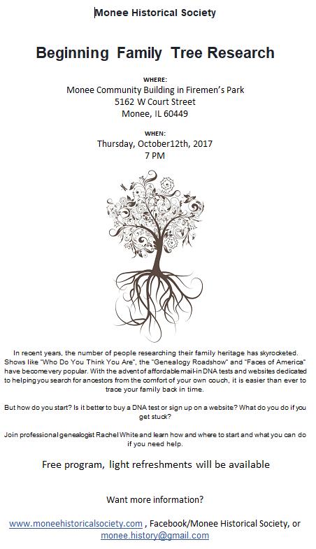 10-12-17 Beginning Family Tree Flyer