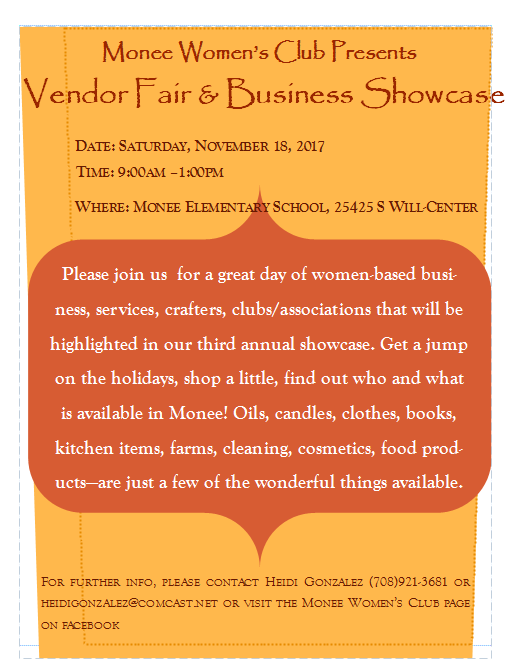 MWC vendor fair flyer 2017