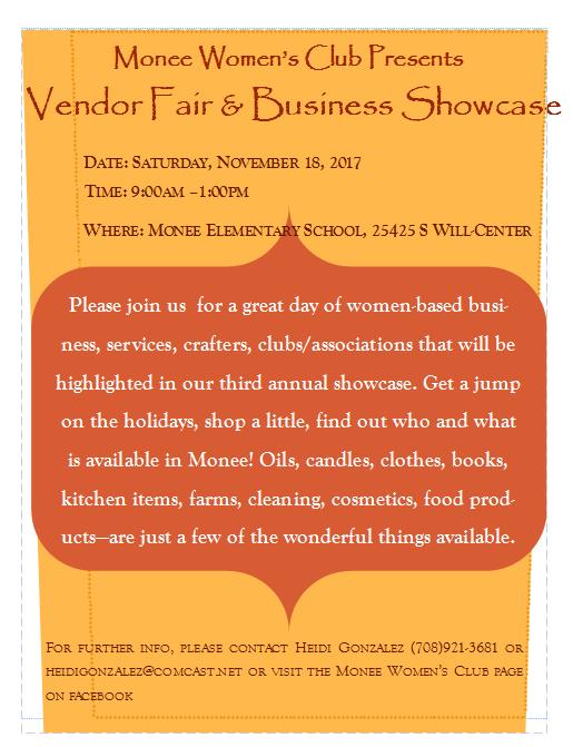 MWC vendor fair flyer 2017